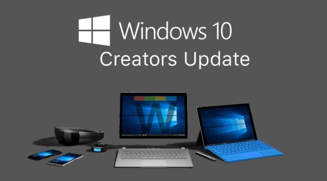 MS Creators Update…